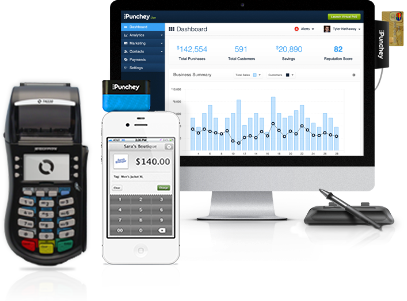 Punchey credit card processing for mobile and retail businesses your choice of processing devices tailored to your business needs reheart Choice Image